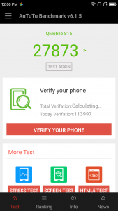 qmobile s15 antutu benchmarking results