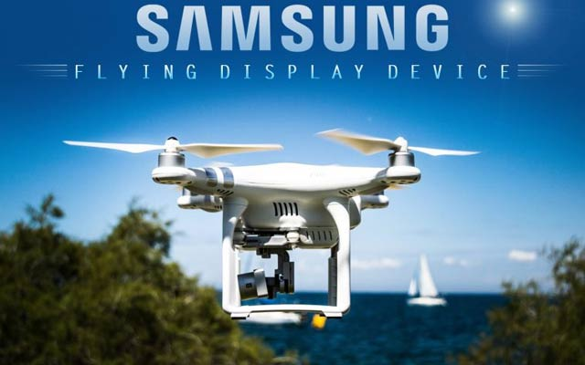 Samsung to Launch Flying Drone Display that's Controlled by Your Eyes