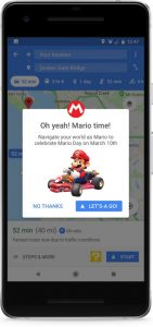 Super Mario Invades Google Maps on Mario's Day