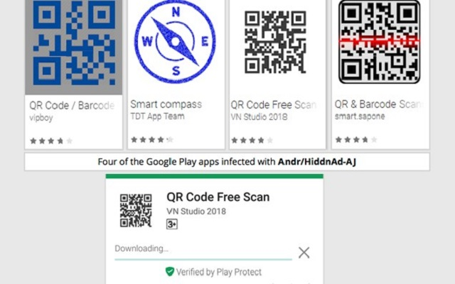 Android Malware in QR Code Apps Secretly Infect 1 Million Users