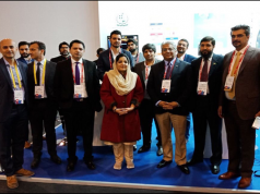 Chief Technology Officer USF Syed Asif Kamal signed the MOU with the representative of Huawei