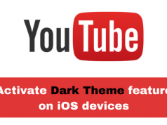 Activate YouTube Dark Mode feature