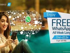 Stay Connected to Friends with Telenor 4G FREE WhatsApp offer