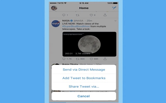 Twitter introduces Bookmarks feature