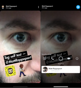 Snapchat adds Instagram's Feature @ Mention Tagging