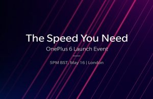 OnePlus 6 to Launch Globally on May 16, 2018