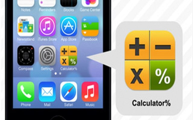 Calculator app that hides text