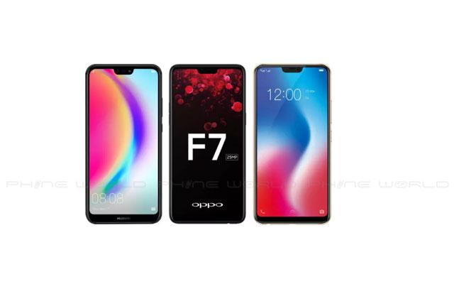 Oppo F7 vs Huawei P20 Lite vs Vivo V9