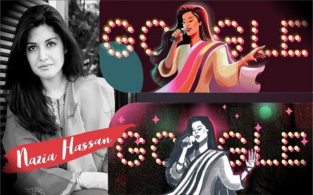 Google Honours Nazia Hassan with Doodle on her 53rd Birthday
