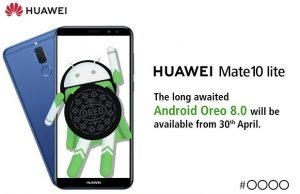 Huawei Mate 10 Lite Android Oreo Update