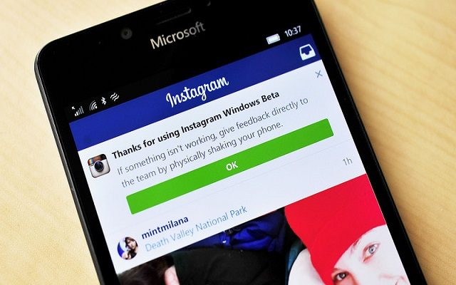 Instagram APP For Windows 10 Phone Removed From Microsoft Store
