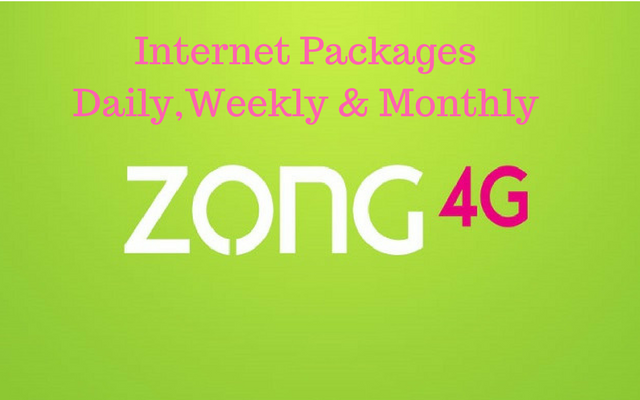 34ebfab63b22a3 Here are the Complete Details of Zong Internet Packages Daily ...