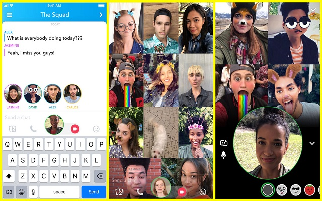 Snapchat Adds Group Video Chat