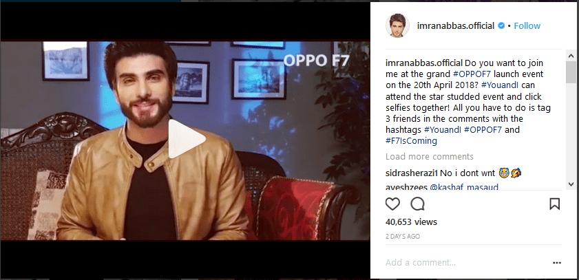 OPPO F7 in Pakistan
