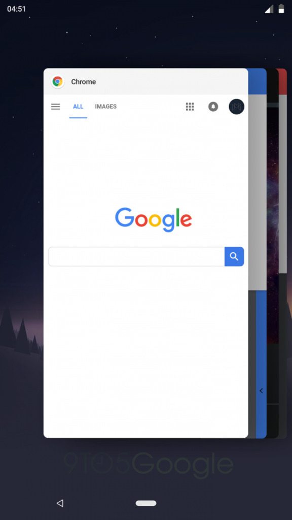 Android P renew the navigation bar and apps menu