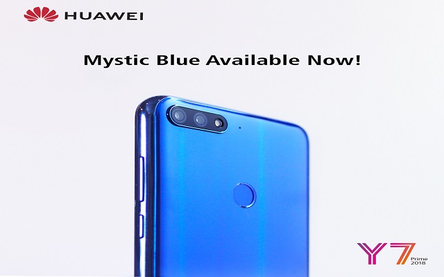 HUAWEI Y7 Prime 2018 Puts the Market on Fire Again with Mystic Blue Color