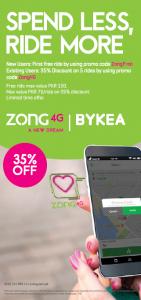 Zong 4G Partners with Bykea