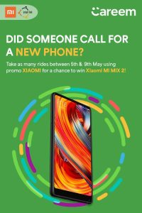 Ride With Careem and Get a Chance to Win Mi Mix 2