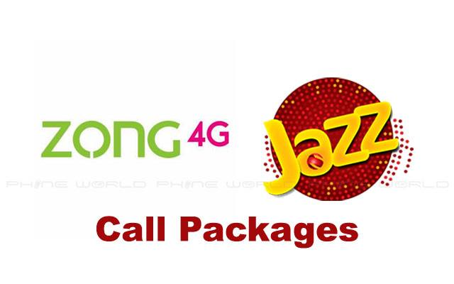 Zong Call Packages VS Jazz Call Packages- Daily, Weekly & Monthly