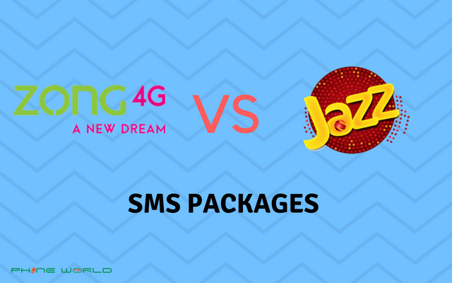 Zong SMS Packages VS Jazz SMS Packages- Daily, Weekly & Monthly
