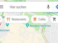 Google Maps is Testing Floating Category Bar