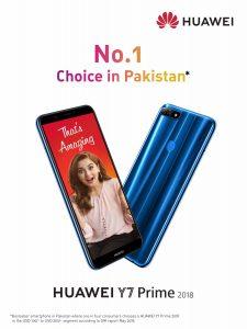 HUAWEI Y7 Prime 2018 is Pakistan's Bestselling Smartphone Ever