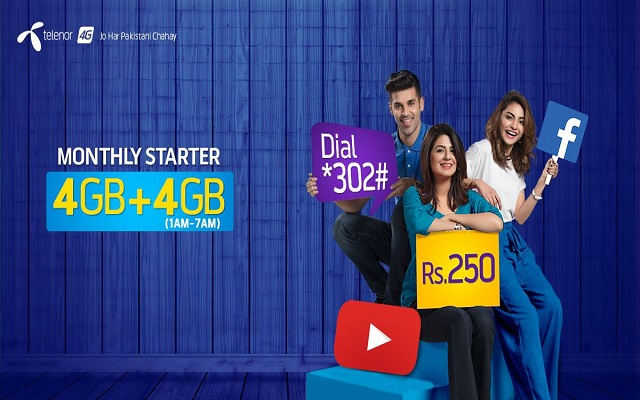 Now Enjoy Non-Stop Sharing & Surfing with Telenor Monthly Starter Package
