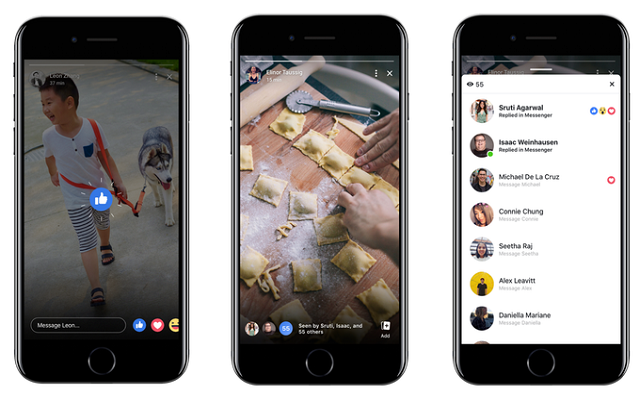 Facebook Stories Gets Group Chat & Reactions