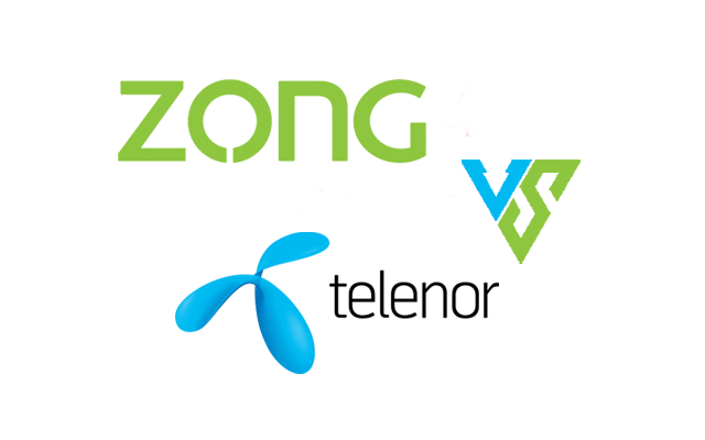 Zong and Telenor SMS packages.