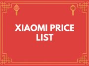 XIAOMI Releases its Updated Price List