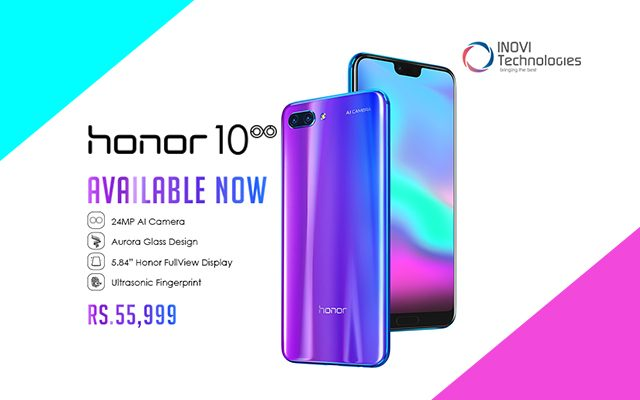 Honor 10 launched its Flagship Model with 5.84-inch Notched Display, AI Camera & Color-Changing Design
