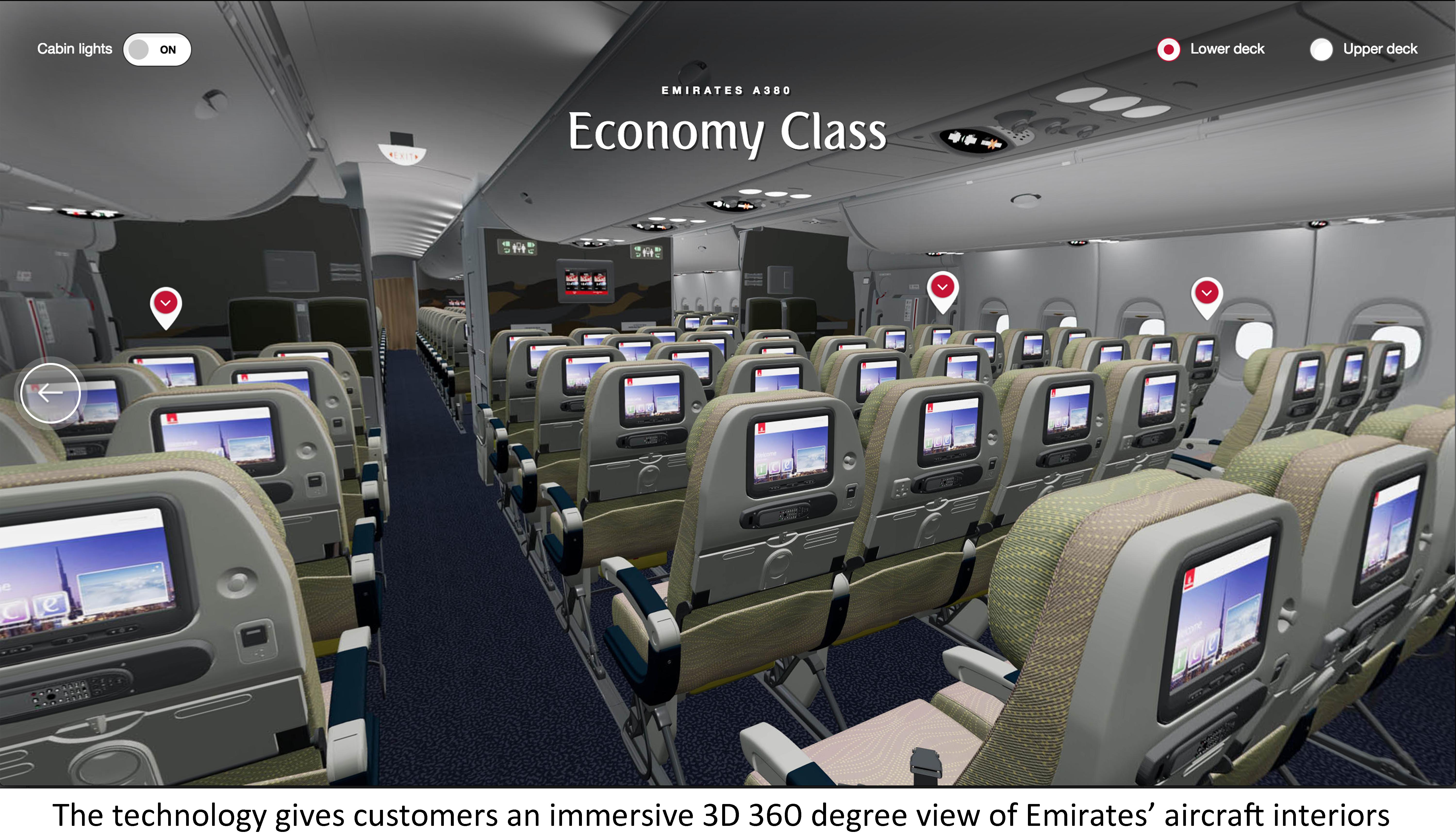 Emirates Pioneers Web Virtual Reality Technology on emirates.com