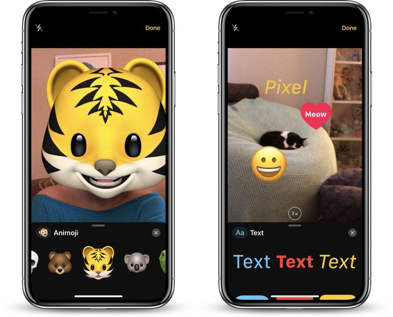 iOS 12 New Camera Effects for Messaging