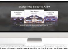 Emirates Pioneers Web Virtual Reality Technology on emirates.com