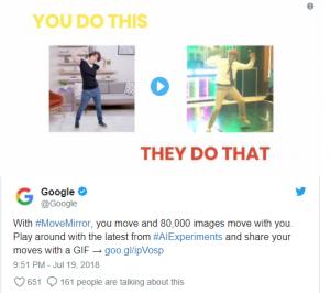 Google's Move Mirror AI Experiment