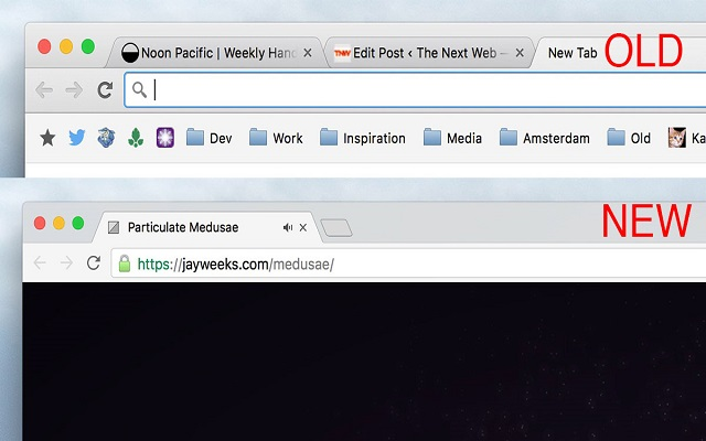 New design for chrome on desktop
