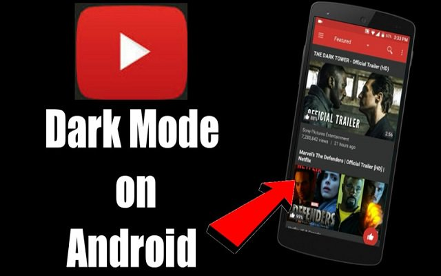 how to enable youtube dark mode