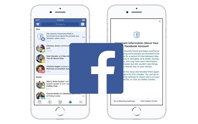 Facebook Bug Unblock Users from Block List