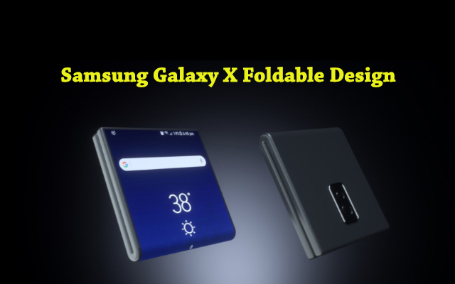 foldable Samsung Galaxy X design