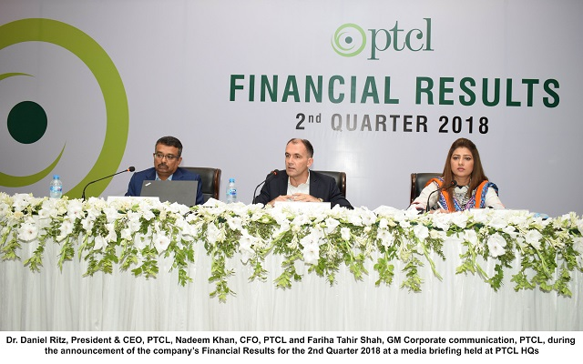 PTCL GROUP Grows at 4 % YOY, PTCL Announces Interim Dividend of Re 1 Per Share