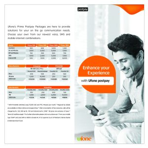 Ufone Unveils New Prime Postpay Packages