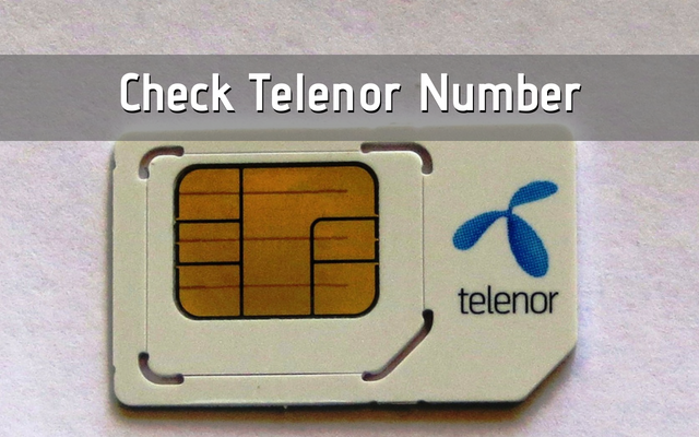 Telenor Number Check Code 2019 | How to Check Telenor Number