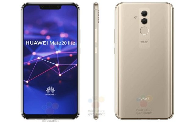 Mid-range Huawei Mate 20 Lite is covered in glass (back and front) and features metal frames. It will be available in black and gold in late August for €400/$400.