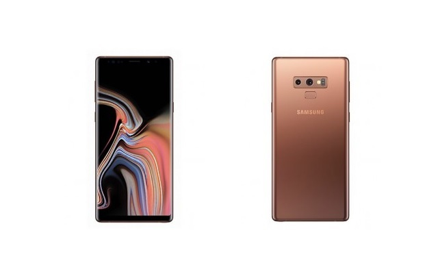Metallic Copper Samsung Galaxy Note 9