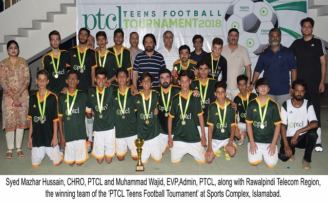 PTCL holds Football Tournament for Teenagers