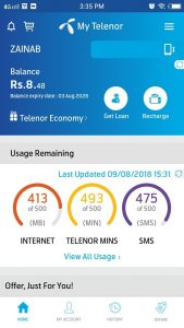 Telenor Balance Check Code 2018
