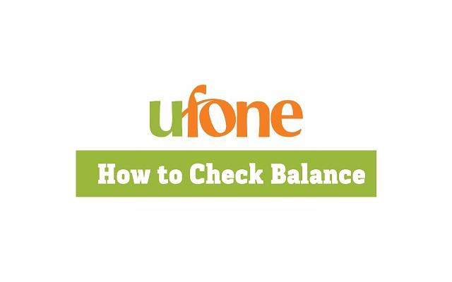 Ufone Balance Check Code 2020 Balance Check Via Ufone App