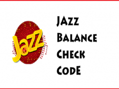Jazz Balance Check Code 2018