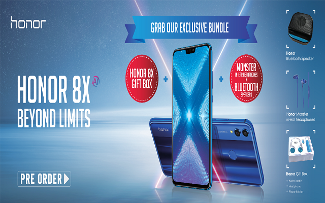 Now You can Pre-Order Honor 8X in Pakistan