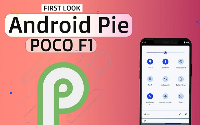 Pocophone F1 with Android 9 Pie